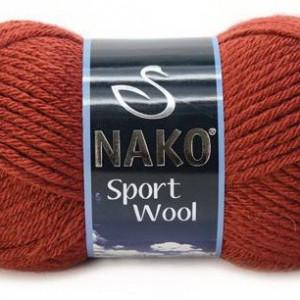 Fir de tricotat sau crosetat - Fire tip mohair din acril si lana Nako Sport Wool Maro 4409