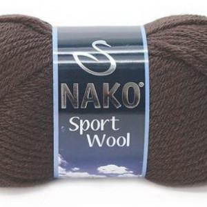 Fir de tricotat sau crosetat - Fire tip mohair din acril si lana Nako Sport Wool Maro 4987