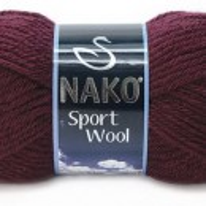 Fir de tricotat sau crosetat - Fire tip mohair din acril si lana Nako Sport Wool Grena 3718