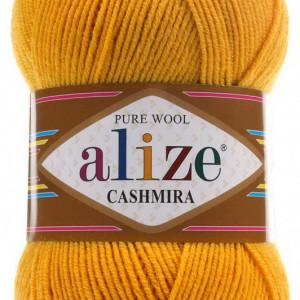 Fir de tricotat sau crosetat - Fire tip mohair din lana 100%, Alize CASHMIRA GALBEN 02