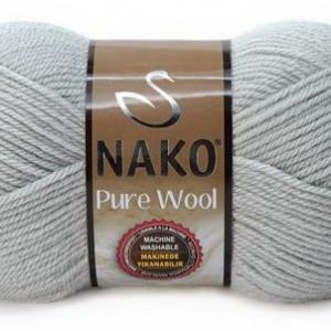 Fir de tricotat sau crosetat - Fire tip mohair din lana 100% Nako PURE WOOL GRI 3298