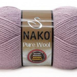 Fir de tricotat sau crosetat - Fire tip mohair din lana 100% Nako PURE WOOL GRI 10155