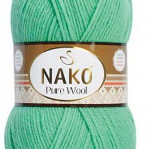 Fir de tricotat sau crosetat - Fire tip mohair din lana 100% Nako PURE WOOL VERNIL 10001