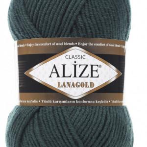 Fir de tricotat sau crosetat - Fire tip mohair din lana 49% si acril 51% Alize Lanagold Petrol 426