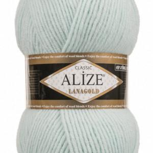 Fir de tricotat sau crosetat - Fire tip mohair din lana 49% si acril 51% Alize Lanagold Vernil 522