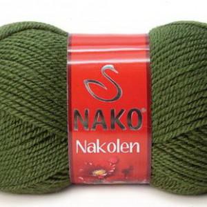 Fir de tricotat sau crosetat - Fire tip mohair din lana 50% si acril 50% Nakolen VERDE 1902