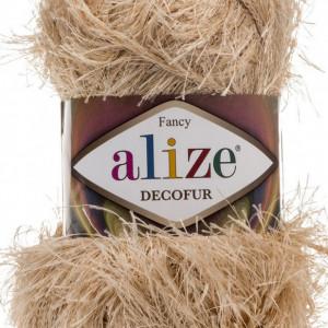 Fir de tricotat sau crosetat - FANCY - ALIZE DECOFUR BEJ 95