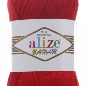 Fir de tricotat sau crosetat - Fir BUMBAC 100% ALIZE BAHAR ROSU 56