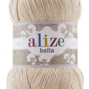 Fir de tricotat sau crosetat - Fir BUMBAC 100% ALIZE BELLA 100 - BEJ 76