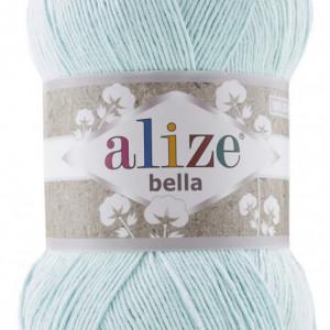 Fir de tricotat sau crosetat - Fir BUMBAC 100% ALIZE BELLA 100 - BLEO 514