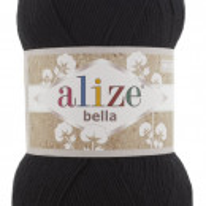 Fir de tricotat sau crosetat - Fir BUMBAC 100% ALIZE BELLA 100 - NEGRU 60