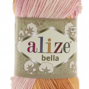 Fir de tricotat sau crosetat - Fir BUMBAC 100% ALIZE BELLA BATIK 6789