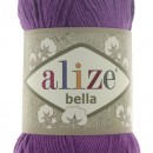 Fir de tricotat sau crosetat - Fir BUMBAC 100% ALIZE BELLA - MOV 45