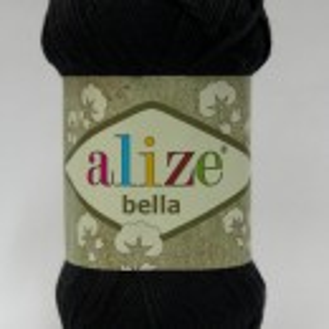 Fir de tricotat sau crosetat - Fir BUMBAC 100% ALIZE BELLA - NEGRU 60