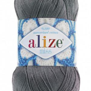 Fir de tricotat sau crosetat - Fir BUMBAC 100% ALIZE MISS GRI 476