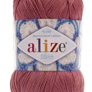 Fir de tricotat sau crosetat - Fir BUMBAC 100% ALIZE MISS ROZ 468