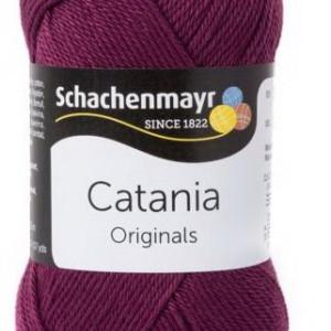 Fir de tricotat sau crosetat - Fir BUMBAC 100% MERCERIZAT CATANIA BURGUND 394