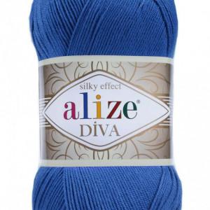 Fir de tricotat sau crosetat - Fir microfibra ALIZE DIVA ALBASTRU 132
