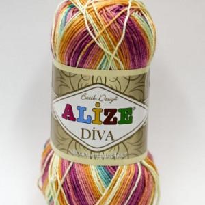 Fir de tricotat sau crosetat - Fir microfibra ALIZE DIVA BATIK DEGRADE 4572
