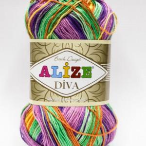Fir de tricotat sau crosetat - Fir microfibra ALIZE DIVA BATIK DEGRADE 5509