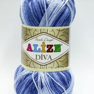 Fir de tricotat sau crosetat - Fir microfibra ALIZE DIVA BATIK DEGRADE 3282