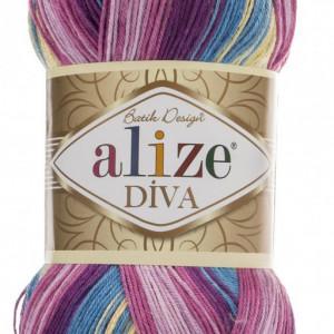 Fir de tricotat sau crosetat - Fir microfibra ALIZE DIVA BATIK DEGRADE 6794
