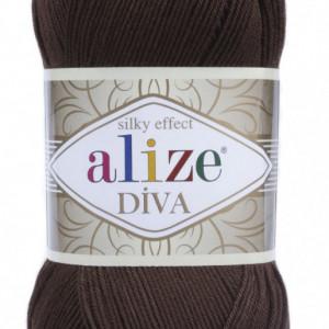 Fir de tricotat sau crosetat - Fir microfibra ALIZE DIVA MARO 26