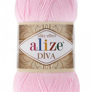 Fir de tricotat sau crosetat - Fir microfibra ALIZE DIVA ROZ 185