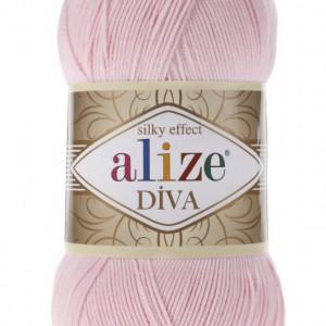 Fir de tricotat sau crosetat - Fir microfibra ALIZE DIVA ROZ 393