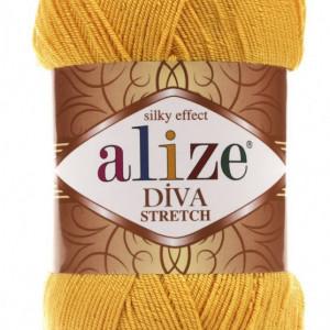 Fir de tricotat sau crosetat - Fir microfibra ALIZE DIVA STRETCH GALBEN 488