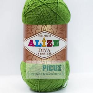 Fir de tricotat sau crosetat - Fir microfibra ALIZE DIVA STRETCH VERDE 210