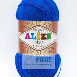 Fir de tricotat sau crosetat - Fir microfibra ALIZE DIVA STRETCH ALBASTRU 132