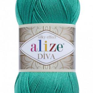 Fir de tricotat sau crosetat - Fir microfibra ALIZE DIVA TURCOAZ 610