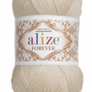 Fir de tricotat sau crosetat - Fir microfibra ALIZE FOREVER BEJ 314