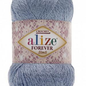 Fir de tricotat sau crosetat - Fir microfibra ALIZE FOREVER SIMLI BLEO 40