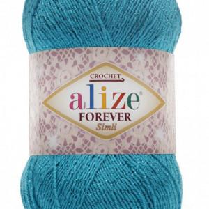 Fir de tricotat sau crosetat - Fir microfibra ALIZE FOREVER SIMLI BLEO 16