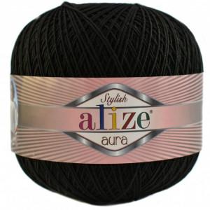 Fir de tricotat sau crosetat - Fire Alize Aura - Negru - 60
