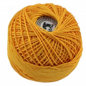 Fir de tricotat sau crosetat - Fire Bumbac 100% ANGELICA ROMANOFIR BOBINA GALBEN 1313