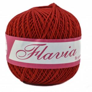 Fir de tricotat sau crosetat - Fire Bumbac 100% FLAVIA ROMANOFIR BOBINA ROSU 1333