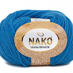 Fir de tricotat sau crosetat - Fire din lana 100% Nako Merino Blend DK - ALBASTRU COD 1256