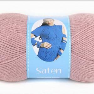 Fir de tricotat sau crosetat - Fire Nako SATEN ROZ PUDRA 2478