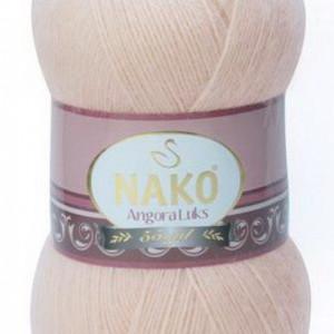 Fir de tricotat sau crosetat - Fire tip mohair acril NAKO ANGORA LUKS BEJ 2250