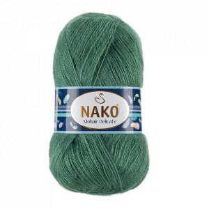 Fir de tricotat sau crosetat - Fire tip mohair acril NAKO MOHAIR DELICATE - VERDE COD 2271