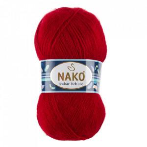 Fir de tricotat sau crosetat - Fire tip mohair acril NAKO MOHAIR DELICATE - ROSU COD 6109