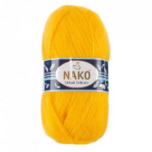 Fir de tricotat sau crosetat - Fire tip mohair acril NAKO MOHAIR DELICATE - GALBEN COD 6142