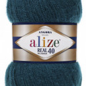 Fir de tricotat sau crosetat - Fire tip mohair din acril Alize Angora Real 40 Petrol 17