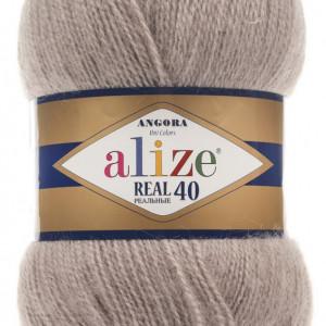 Fir de tricotat sau crosetat - Fire tip mohair din acril Alize Angora Real 40 Bej 541