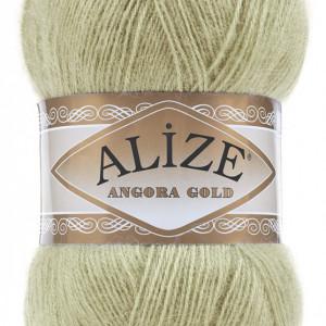 Fir de tricotat sau crosetat - Fire tip mohair din acril Alize Angora Gold Vernil 267