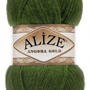 Fir de tricotat sau crosetat - Fire tip mohair din acril Alize Angora Gold Verde 118