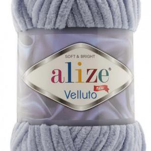 Fir de tricotat sau crosetat - Fire tip mohair din acril ALIZE VELLUTO GRI 87